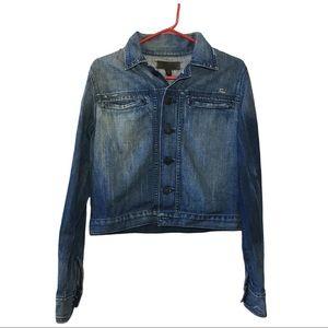 True Religion Denim Cropped Cotton Jean Jacket L
